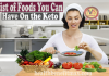 list of foods you can have on the keto diet